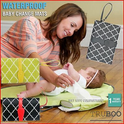 Baby Change Mat Clutch Portable Pad Waterproof Cover Bag Pad Travel Diaper Nappy