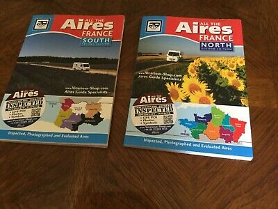 ALL THE AIRES FRANCE  NORTH AND SOUTH BOOKS Second Edition  for Motorhomers