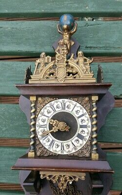 Vintage Possibly Antique Old Clock Selling For Parts / Spares