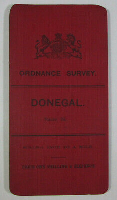 1905 Old OS Ordnance Survey Ireland One-Inch Second Edition Map 24 Donegal