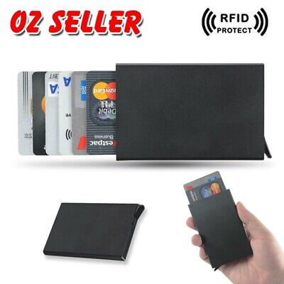 Wallet ID Credit Card Holder Case RFID Blocking Aluminum Slim Protector Purse