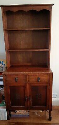Welsh Dresser, Vintage Antique Dresser, Old Carved Oak Furniture