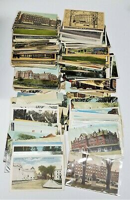 Vintage Postcards, Lot of 200+, NH Architect., Parks, Leather Card, early 1900s