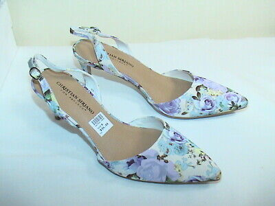 Christian Siriano Women 9 Classic Floral Pump White Multi Color Flowers