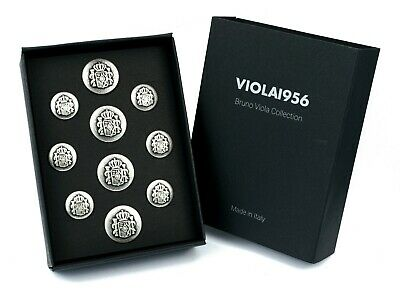 Set of 10 shank buttons - VIOLA1956 series gift box - Set 004. Spain