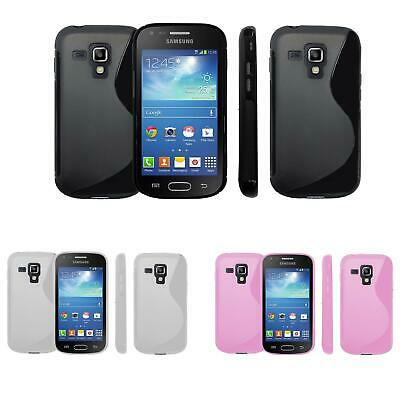 S Line Wave Tough Shockproof Phone Case Gel Cover Skin Samsung Galaxy Trend Plus