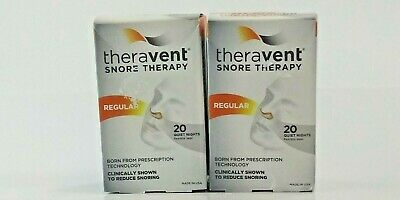 Lot x 2 TheraVent Snore Therapy Regular 20 Quiet Nights Flex Seal EXP 10/20 A3
