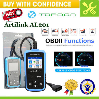 TOPDON ELM327 OBD2 EOBD Car Code Reader Scanner Engine Auto Diagnostic Scan Tool