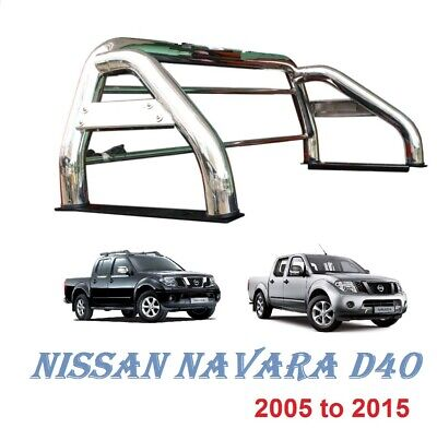 Nissan Navara D40 Stainless Steel Sports accessoris Roll Bar 2005-2015 76mm M217