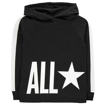 Converse Jersey OTH Hoodie Juniors Girls Size 8-9 Years Black