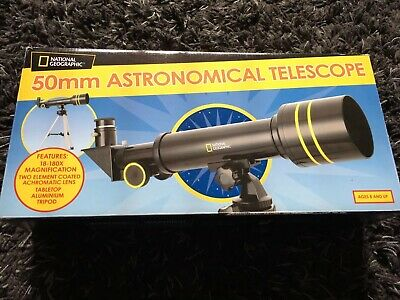 National Geographic - 50mm Astronomical Telescope Tabletop Tripod Boxed