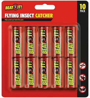 🔥10 X Fly Killer Flying Insect Catcher Flies Mosquito Bug Wasp Trap Tape Strip