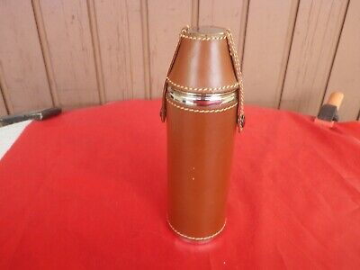 FIOLE Whisky Thermos Flask Vintage Bottle STAINLESS STEEL VINTAGE 80's