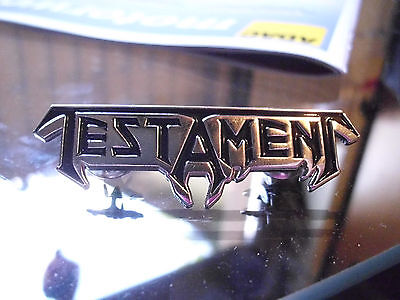Testament Pin Badge Thrash Metal Bathory Celtic Frost