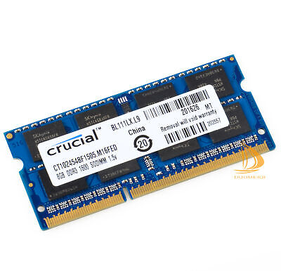 For Crucial 8GB 2Rx8 PC3-12800S SODIMM RAM Laptop Memory Intel DDR3L 1600Mhz #fh