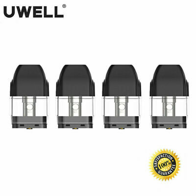 Genuine UWELL CALIBURN Replacement POD Cartridges (1.4 Ohm) - 4 Pods Per Pack