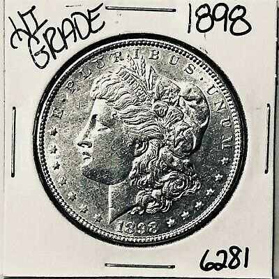 1898 Morgan Silver Dollar Coin #6281 Free Shipping High Grade
