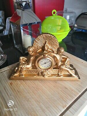 Antique, Vintage Germany Mantel Plaster Clock, working