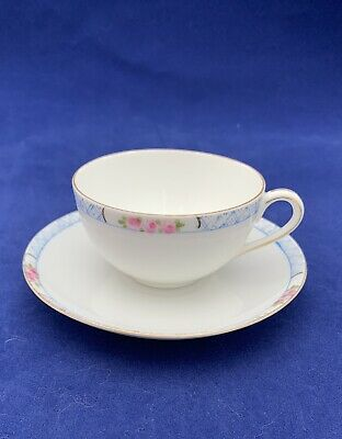 Nippon Hand Painted Demitasse Tea Cup And Saucer