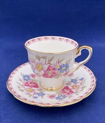 Royal Stafford Windermere Demitasse Tea Cup And Saucer Bone China Made In Eng