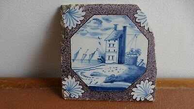 Antique Dutch Delft tile  Ancien carreau  Delft. XVIIIth C. ...............17