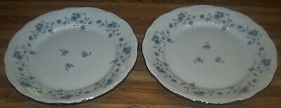 "Johann Haviland Bavaria Germany Blue Garland 10"" Dinner Plates/TWO Plates/NEW"