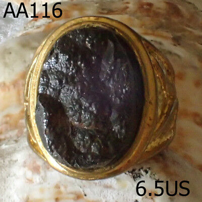 Powerful Natural Leklai Khao Uem Khruem Thai Amulet Ring  #aa116a