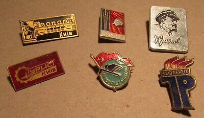 6 Badge Pin's URSS.DDR USSR CCCP East GERMANY SEIDBEREIT