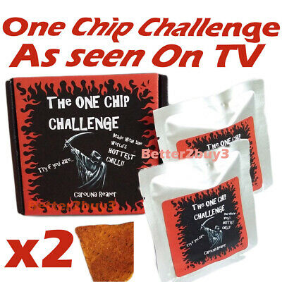 2 x One Chip Challenge chilli! Carolina Reaper c1