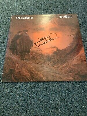 JOE WALSH AUTOGRAPHED SIGNED RECORD ALBUM COVER COA There Goes The