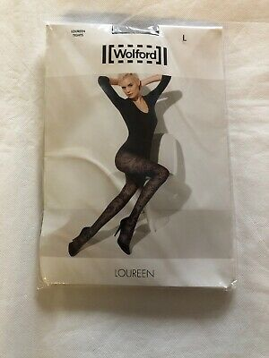 Wolford Loureen Tights Black Size Large BNWT RRP £31