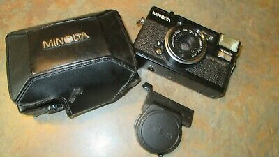 Minolta Hi-Matic AF2 Point&Shoot Camera W 38mm 2.8 Lens /Case/Lens Cap