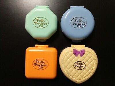 Vintage Bluebird Polly Pocket Compacts - Lot Of 4