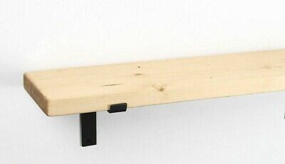 Rustic Chunky Thick Handmade Bespoke Shelves Scaffolding Solid Wood Shelf