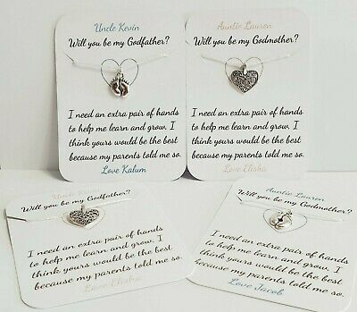 personalised keepsake, Will you be my Godmother Pop the balloon christening