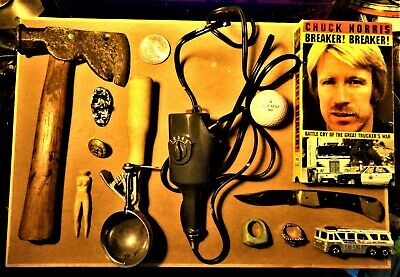 13 Item Vintage JUNK DRAWER LOT Uncirculated 90% Silver Dollar Knife Hatchet USA