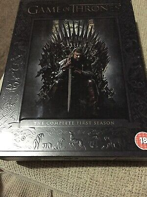 GAME OF THRONES COMPLETE 1st SEASON 5 DISC DVD BOX SET WITH BONUS FEATURES