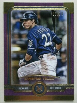 2019 Topps Museum Collection /99 Gold Christian Yelich Milwaukee Brewers