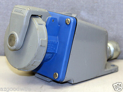 Hubbell 420R9W AC Receptacle IEC60309 IEC 309 Pin & Sleeve