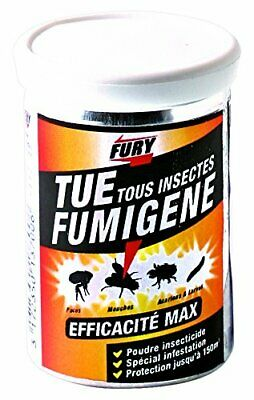POUDRE INSECTICIDE FURY, efficace, infestation, protection 150m3, anti-insectes