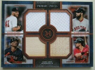 2019 Topps Museum Collection Primary Pieces Betts Pedroia /75 Red Sox
