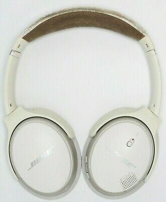 Bose SoundLink II Around Ear Wireless Headphones White Used Missing Ear Pads