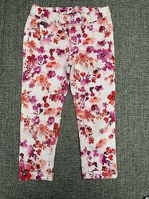 Jordache Kids Girls Floral Crop Jeggings Stretchy Size S SH 6 - 6X Pants