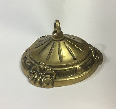 Vintage Solid Cast Brass Loop Ceiling Canopy Chandelier Light Fixture Parts