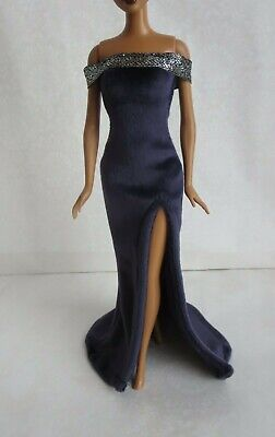 Navy Blue Dress for Doll -Handmade Clothes for doll 11-11.5-12in