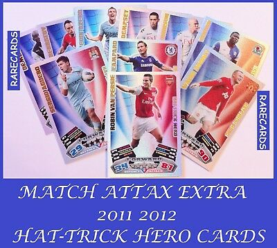 Choose MATCH ATTAX EXTRA 2011 2012 Topps 11/12 HAT-TRICK HERO Cards HTH