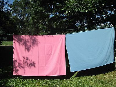 Vintage Tablecloth 2 Pink and Blue solid for your baby shower reveal party