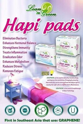 Hapi Pads  with Graphene Anion Strip By Lean n Green. (day, Night & Pantyliners)