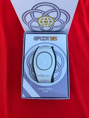 Disney Parks EPCOT 35th Anniversary Magic Band Limited Edition White Figment