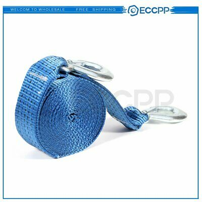 """Heavy Duty Tow Winch Strap 2""""x 20' Rope Hook Car Boat Trailer 13000Lb Max Towing"""
